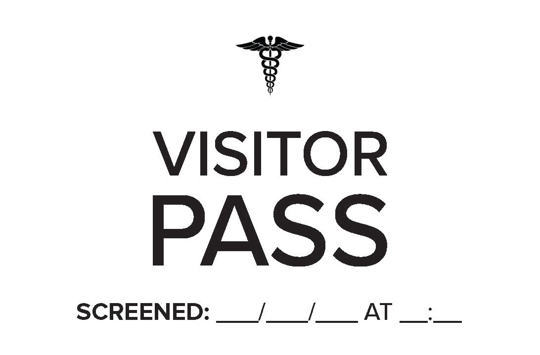 Visitor + Temp check sticker