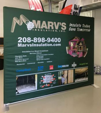 10 ft EZ Tube Fabric Trade Show Display