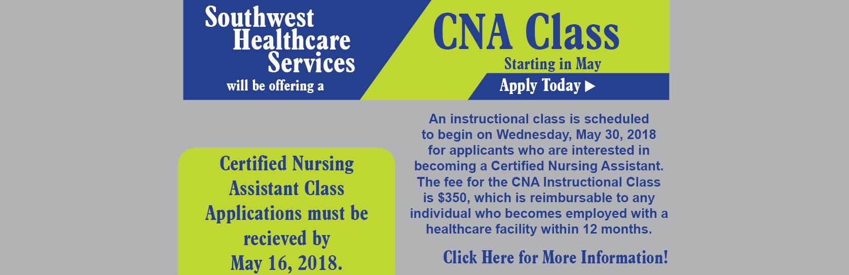 CNA Class May 2018