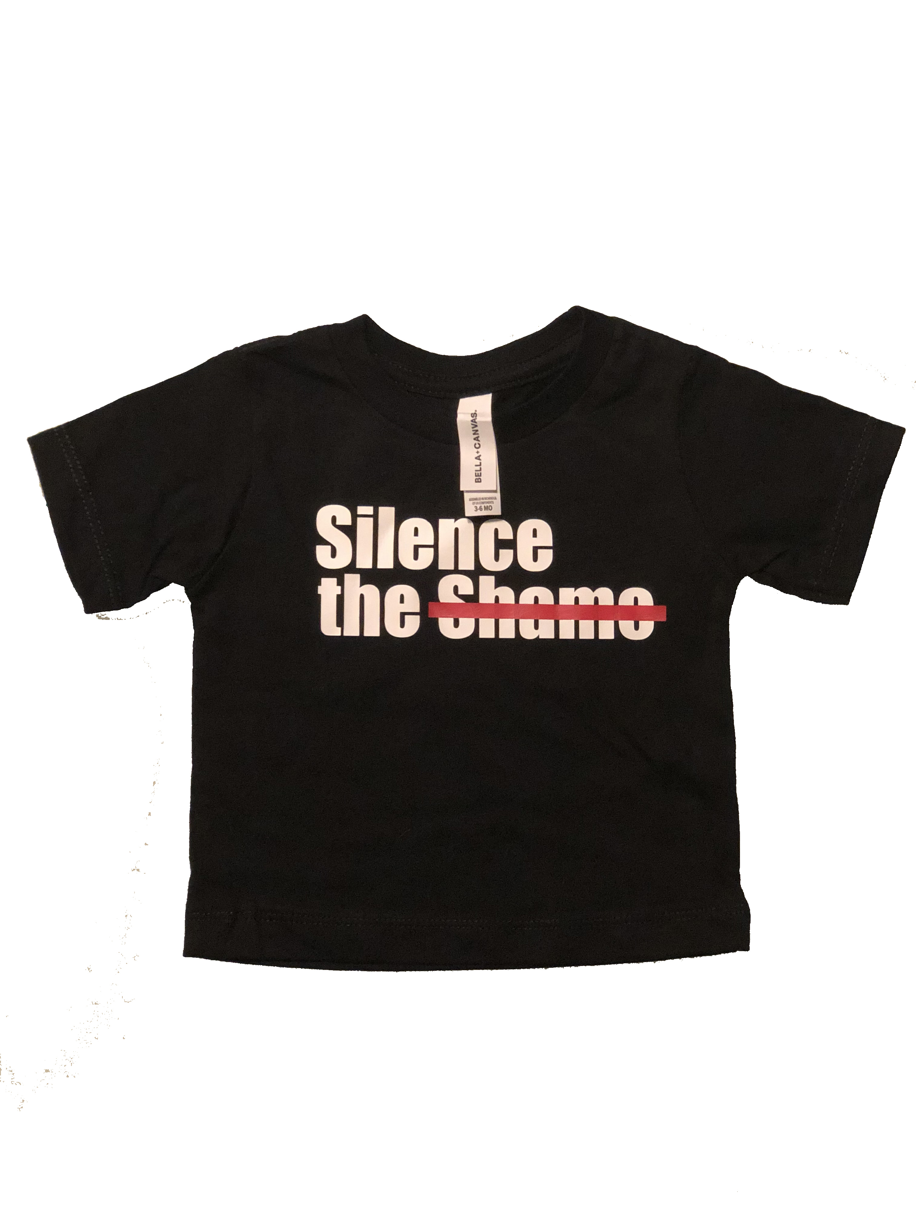Silence the Shame Signature Black  Toddler T-Shirt 3T