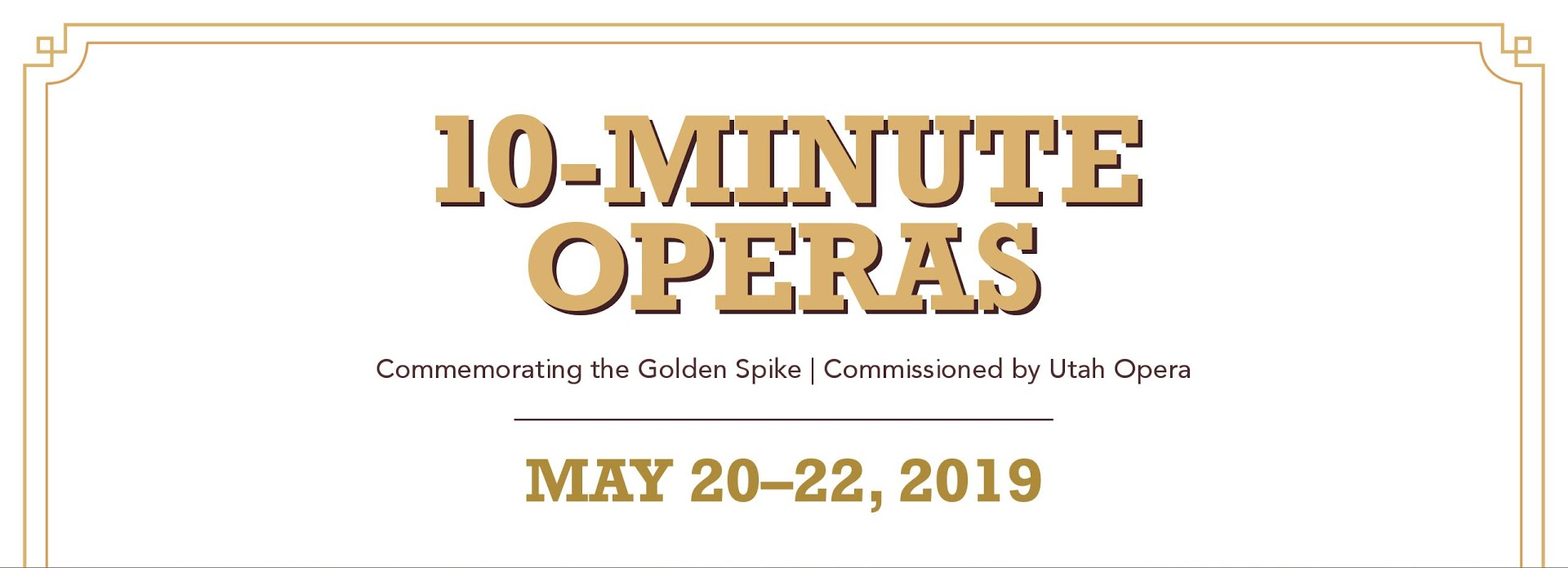 10-Minute Operas at Ogden Union Station - May 21st