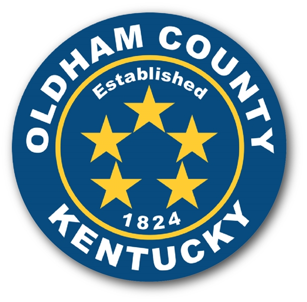 CP-1395 - Carved Plaque of the Seal of Oldham County,Kentucky,  Artist Painted