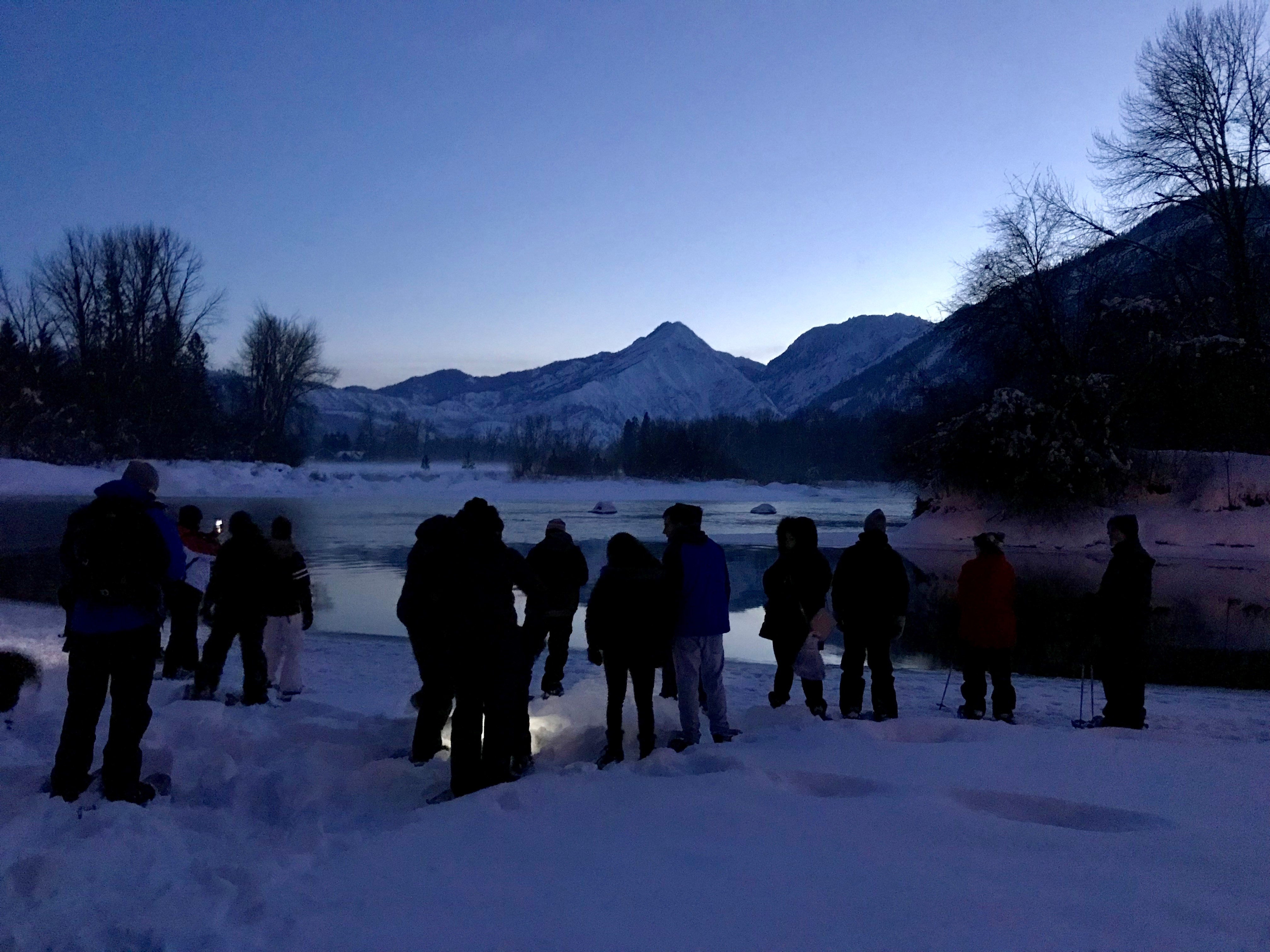 Moonlight Snowshoe Stroll