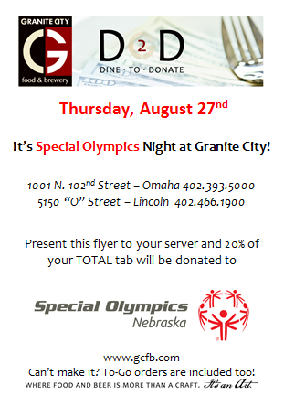 Dine at Granite City to Support SONE!