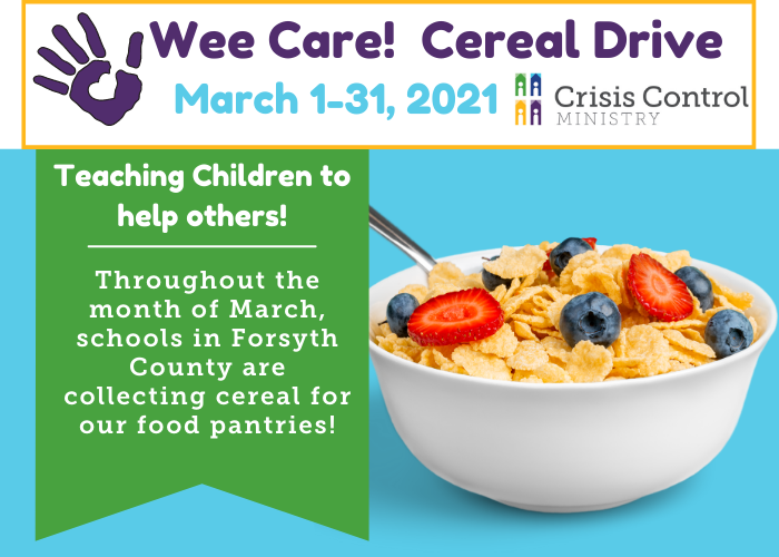 Wee Care! Cereal Drive 2021