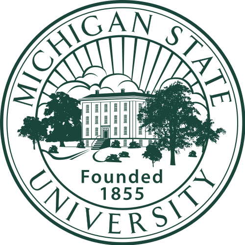 Y34406 - Carved 2.5D HDU (Raised or Engraved Outline)  Wall Plaque of the Seal of Michigan State University