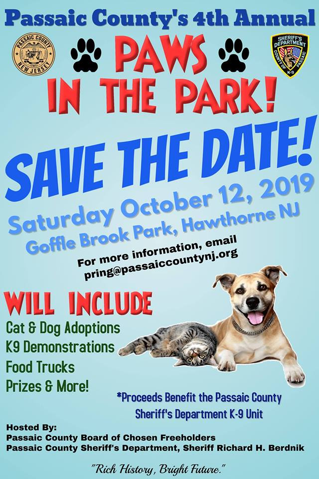 Passaic County's 4th Annual Paws In The Park!