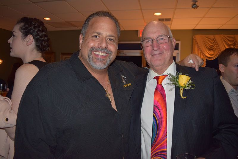 Anthony Mongiello of Formaggio Cheese and Honoree Steven Drobysh