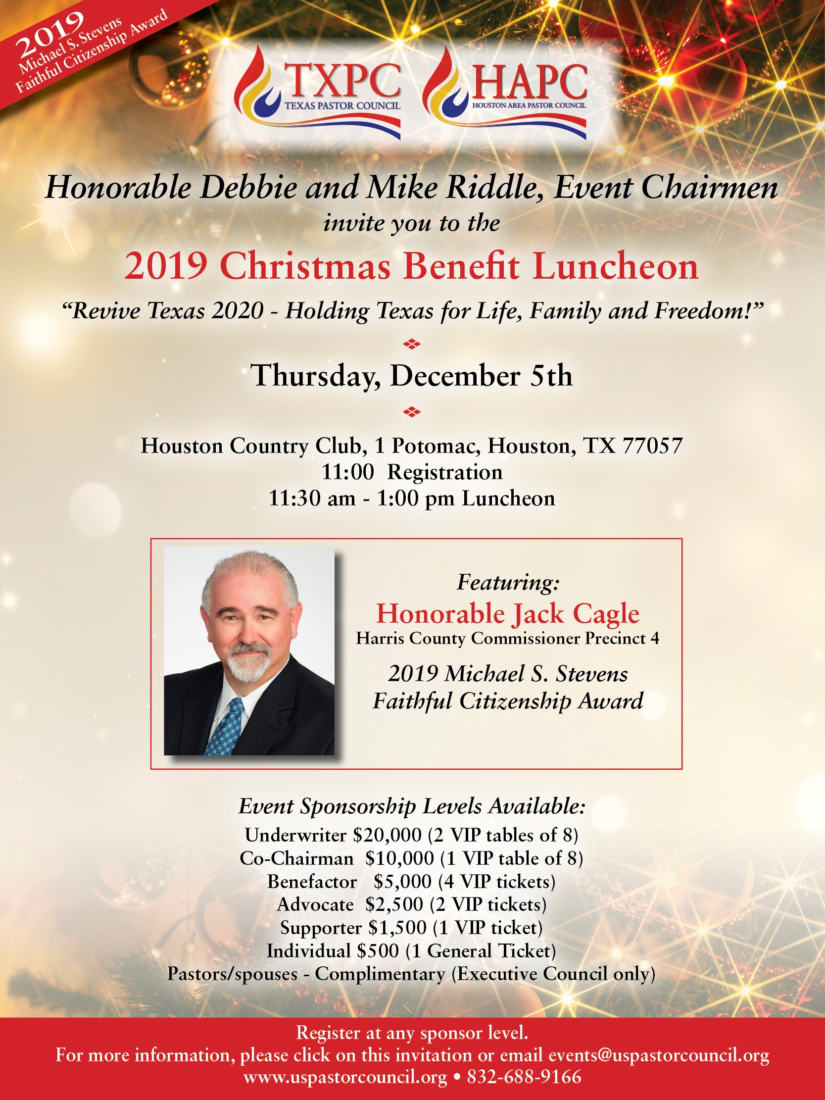 Christmas Events Houston 2019.U S Pastor Council 2019 Txpc Hapc Christmas Benefit