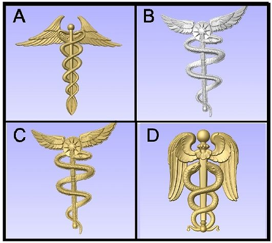 B11490 -  3D Carved Insignia for Medical Signs and Plaques