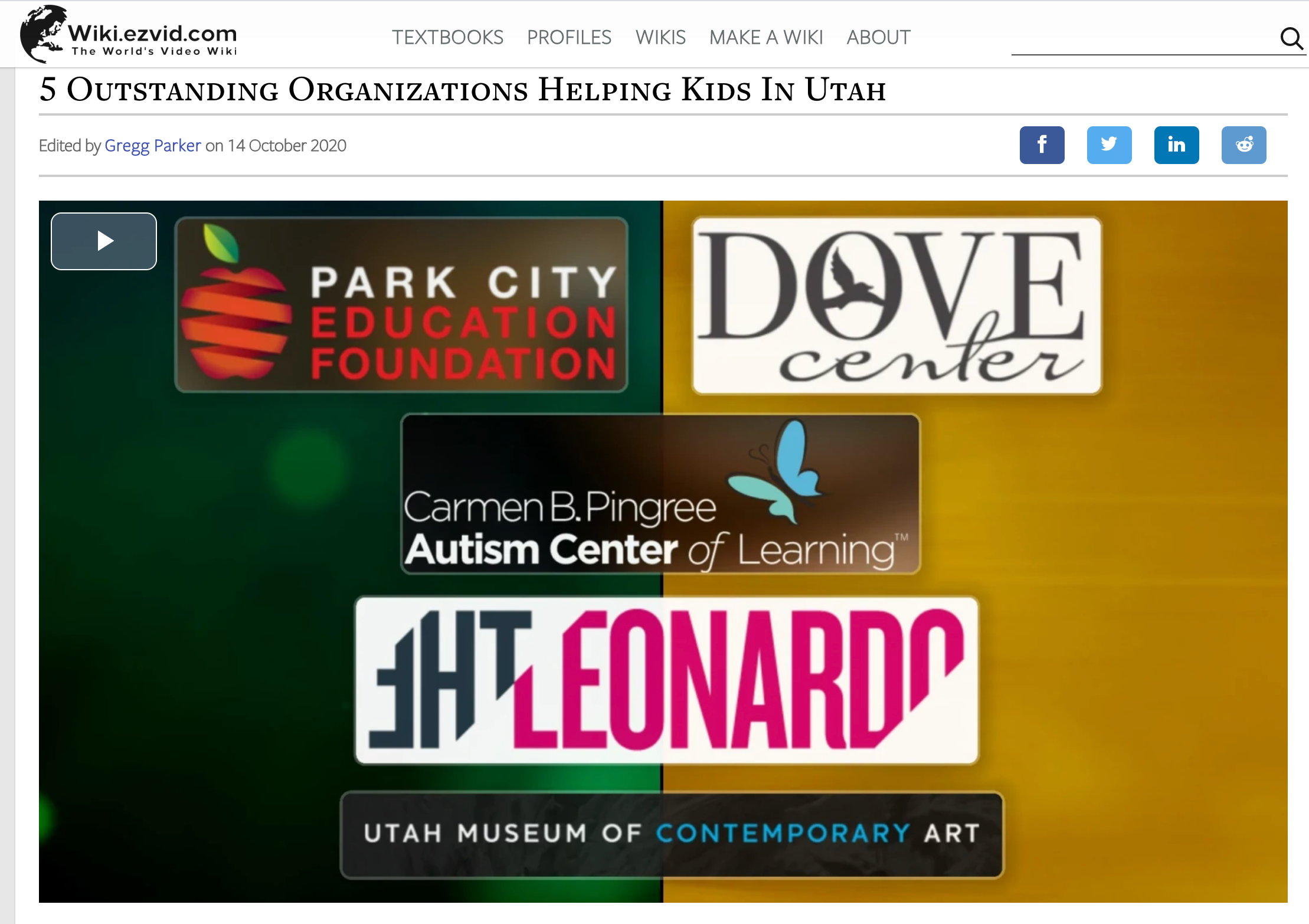 "PCEF Featured on Ezvid Wiki: ""5 Outstanding Organizations Helping Kids In Utah"""