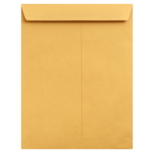 Item J912 - 9 X 12 Catalog/Open End Envelope - Latex Self Seal Gum  - Brown Kraft