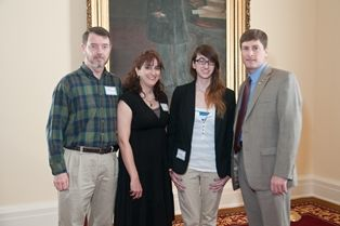Sen. Bill Holtzclaw with Rachel Cunningham & her parents