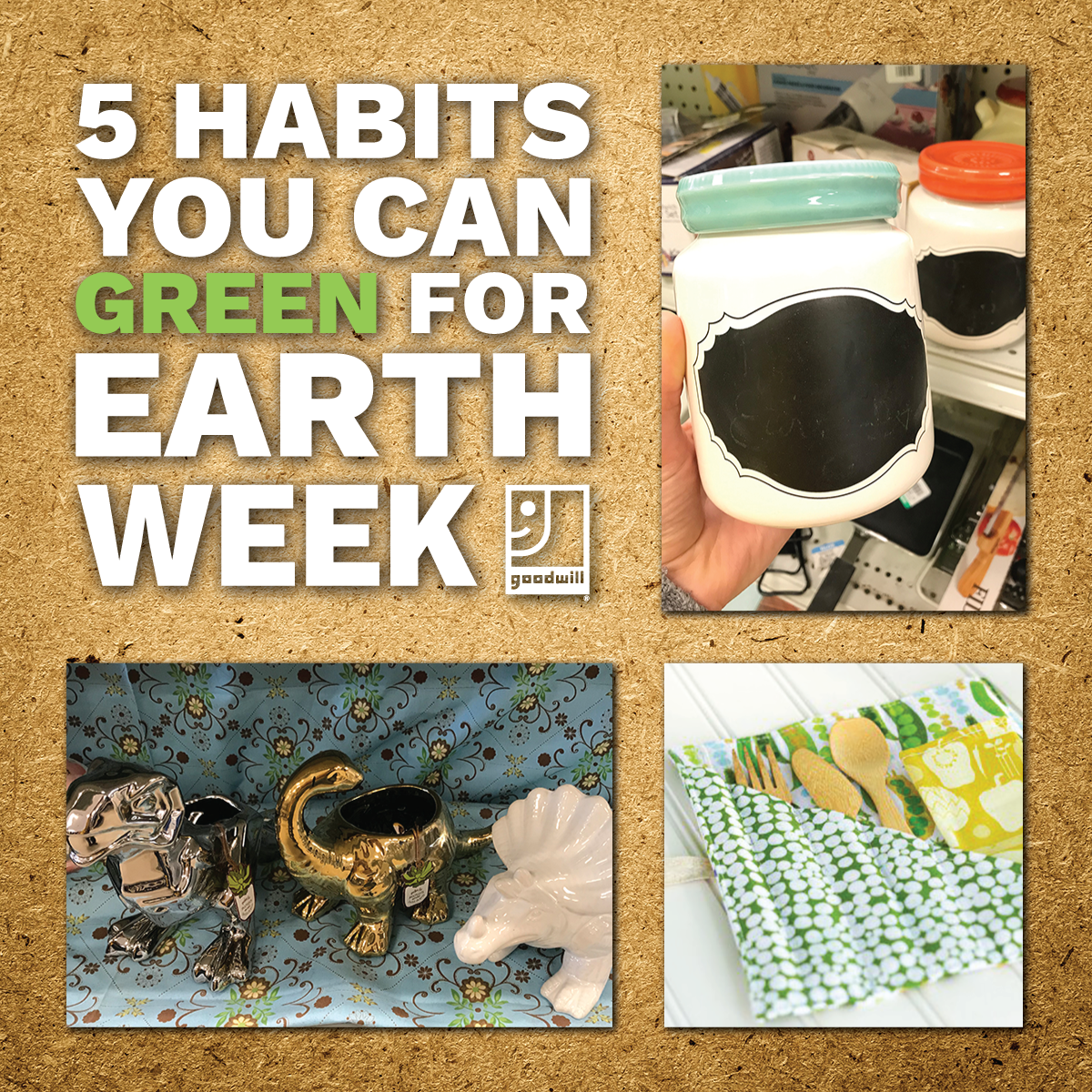 "5 Habits You Can ""Green"" For Earth Week"