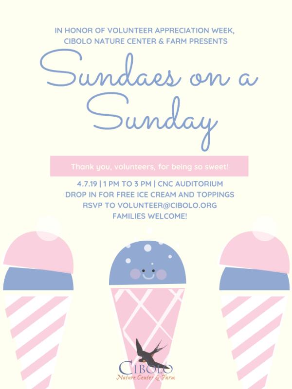 CNC: Sundaes on a Sunday - Volunteer Appreciation!