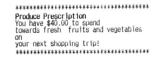 "Food Lion receipt shows ""$40 for fruits and vegetables"" once Healthy Helping is loaded!"