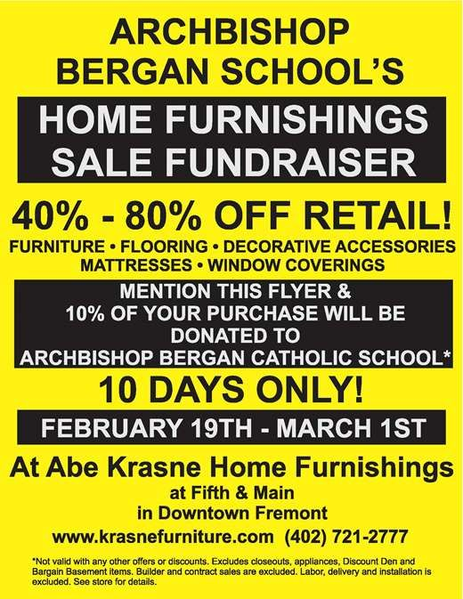 Home Furnishing Sale Fundraiser