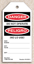 Do Not Operate Tag (Spanish)