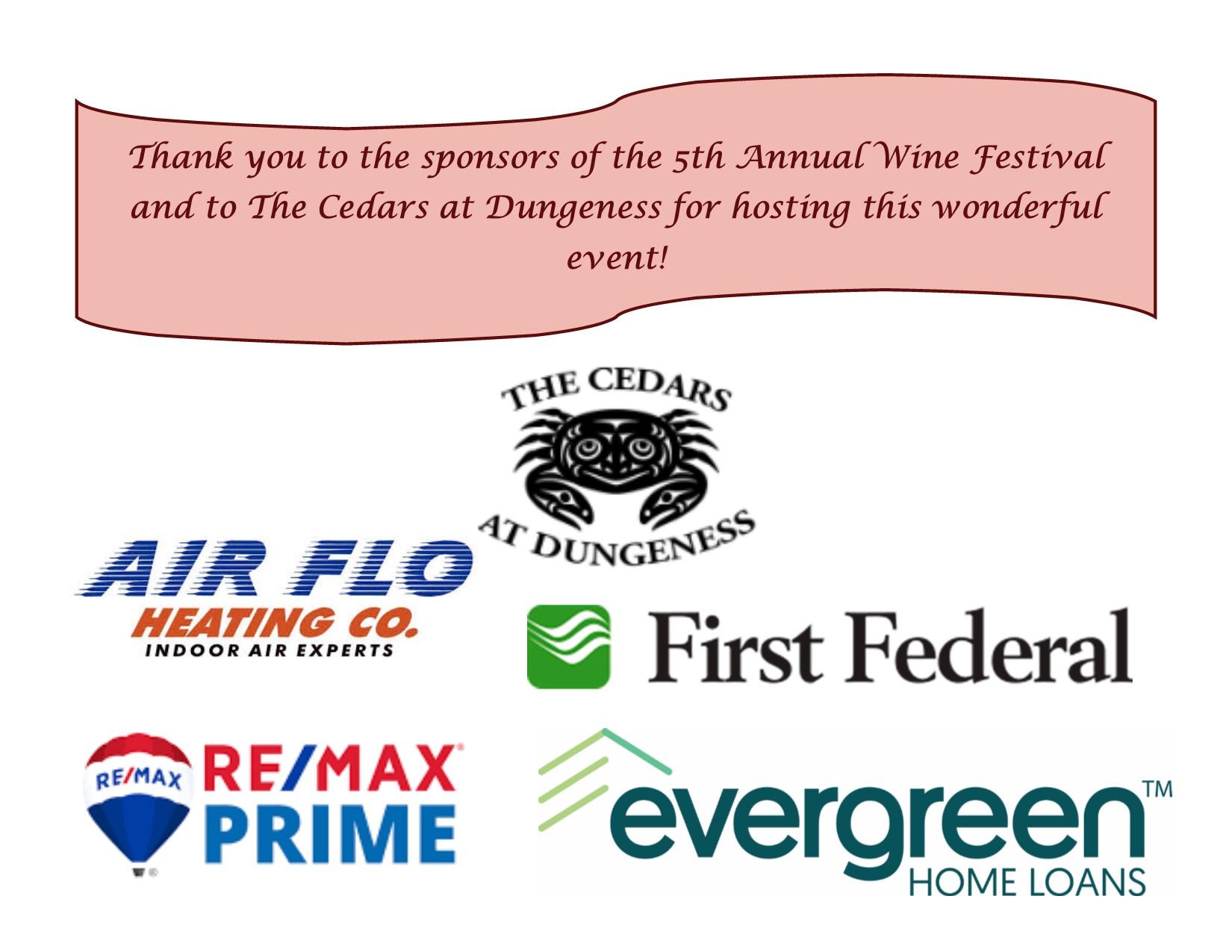 2019 Wine Festival Sponsors