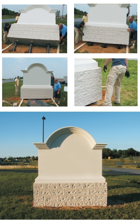 M6950 -- Very simple Installation Process for EPS Foam Monument Signs
