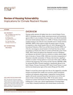 Sheltering Series #1: Review of Housing Vulnerability: Implications for Climate Resilient Houses