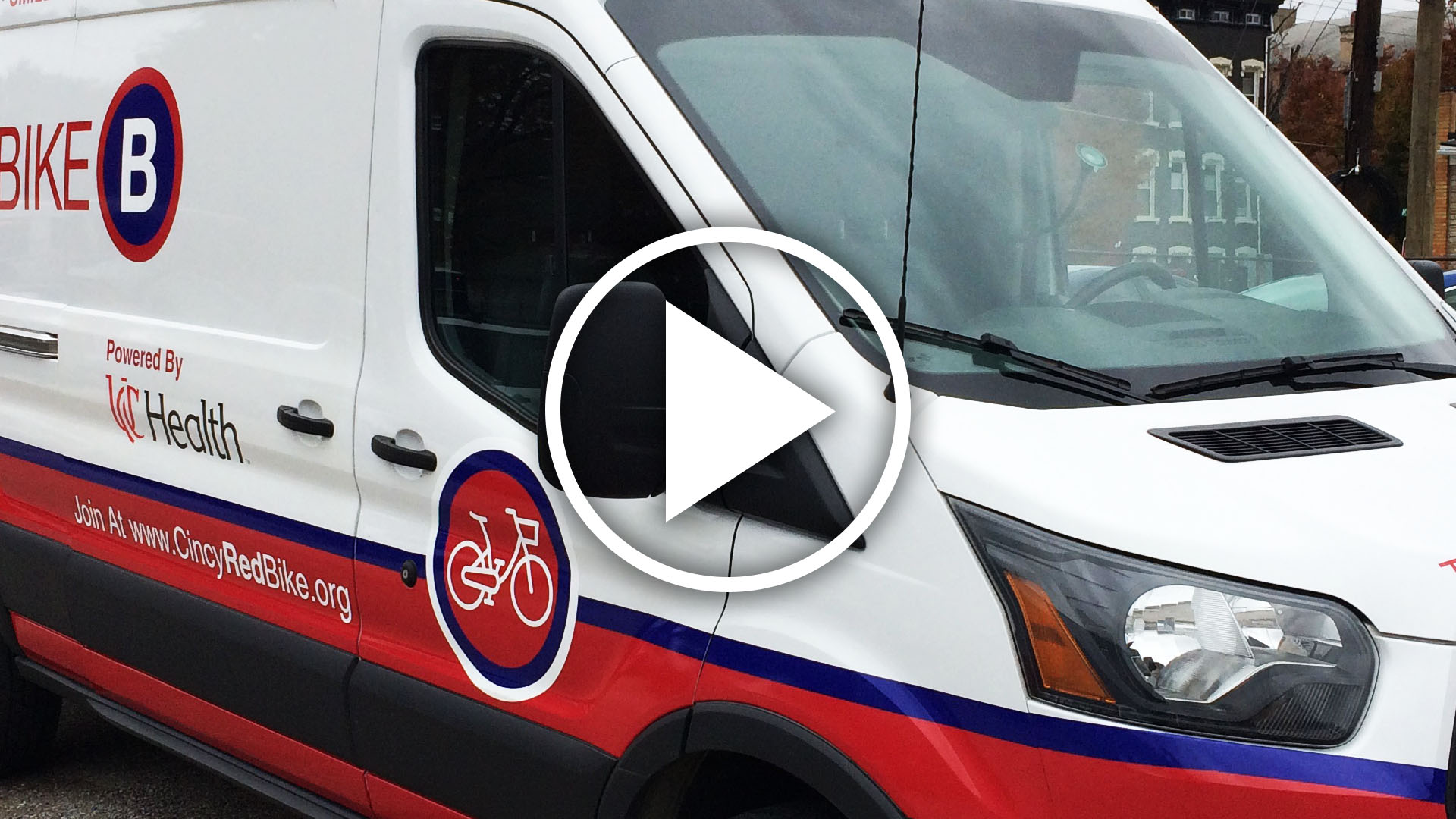 Cincy Red Bike Vehicle Graphic Install