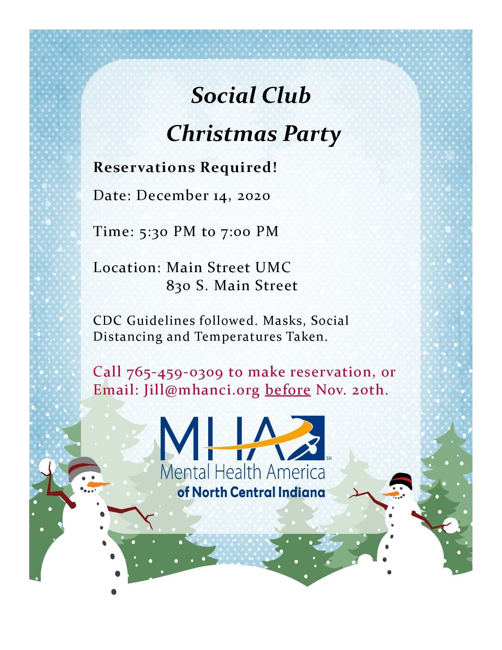 Social Club - Christmas Party