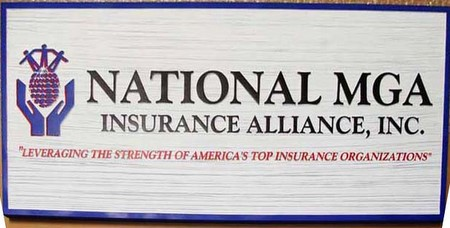 C12502 - Wooden Insurance Alliance Sign