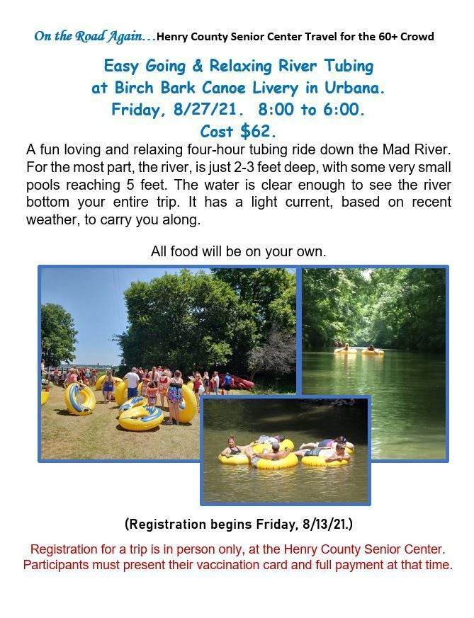 Tubing on the Mad River August 27