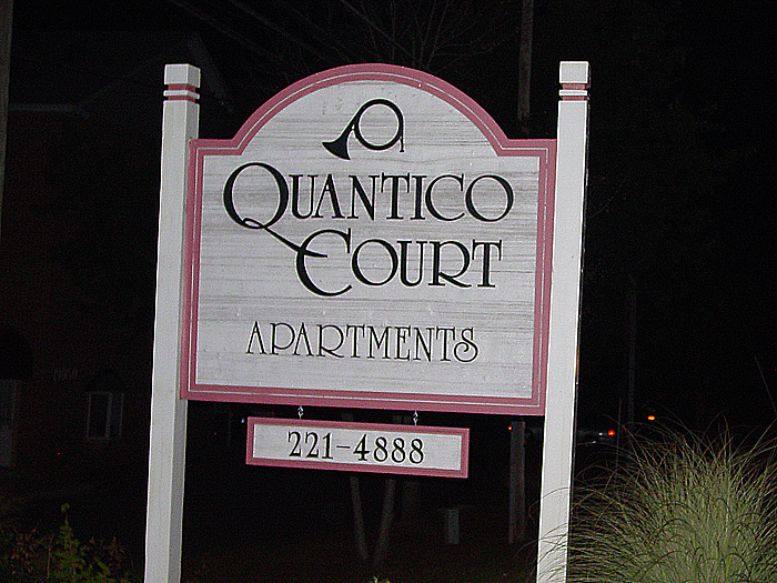 Quantico Court Community Sign
