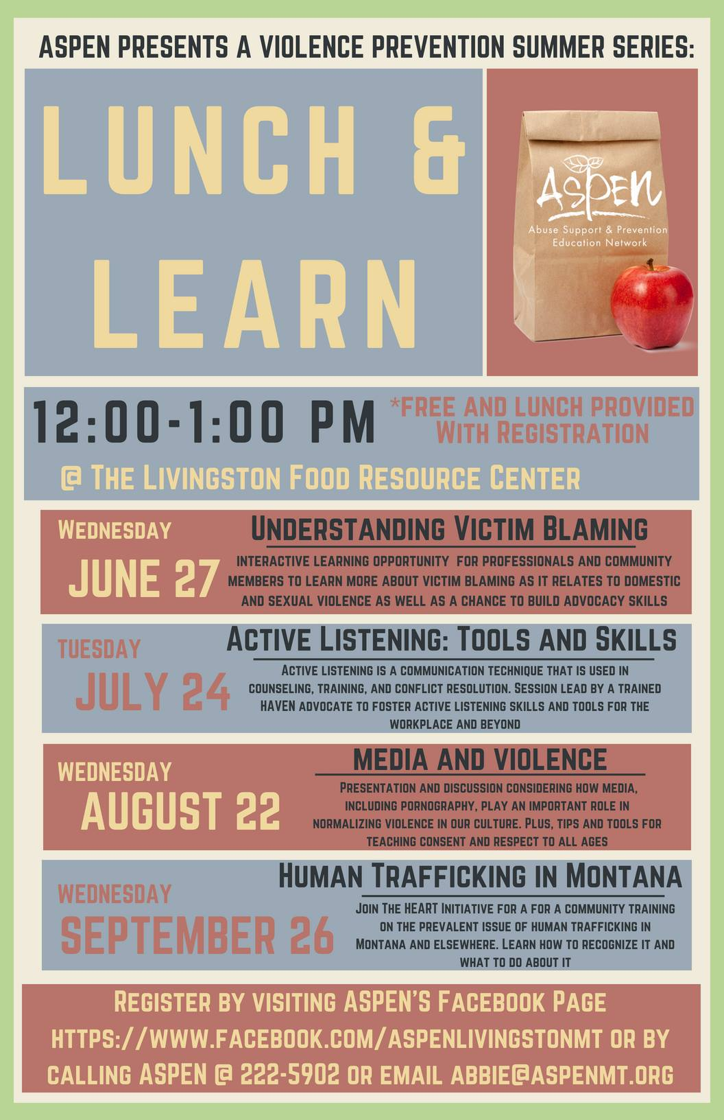 ASPEN's Lunch & Learn #1: Understanding Victim Blaming