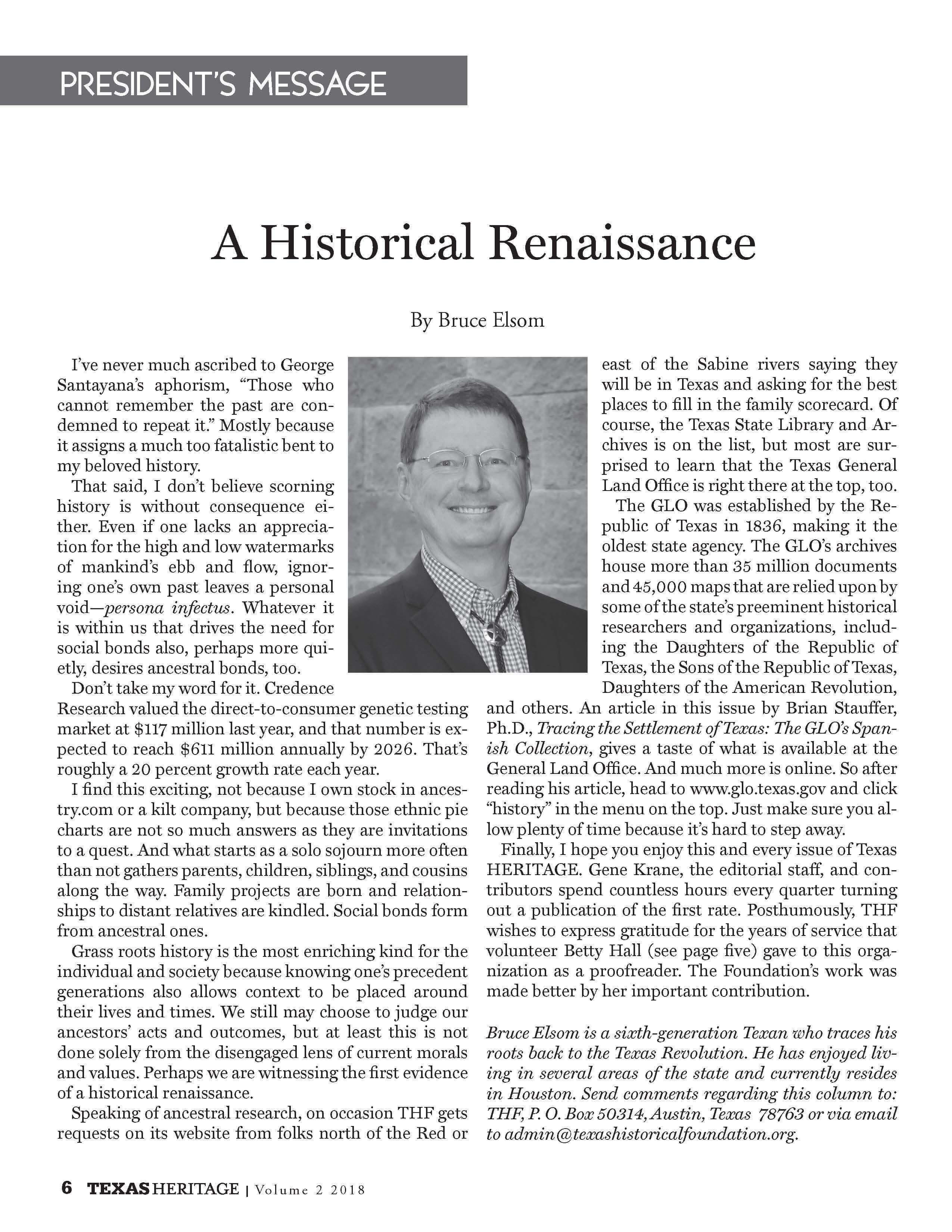 A Historical Renaissance