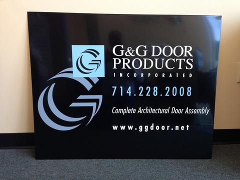 Door panel trailer graphics Orange County