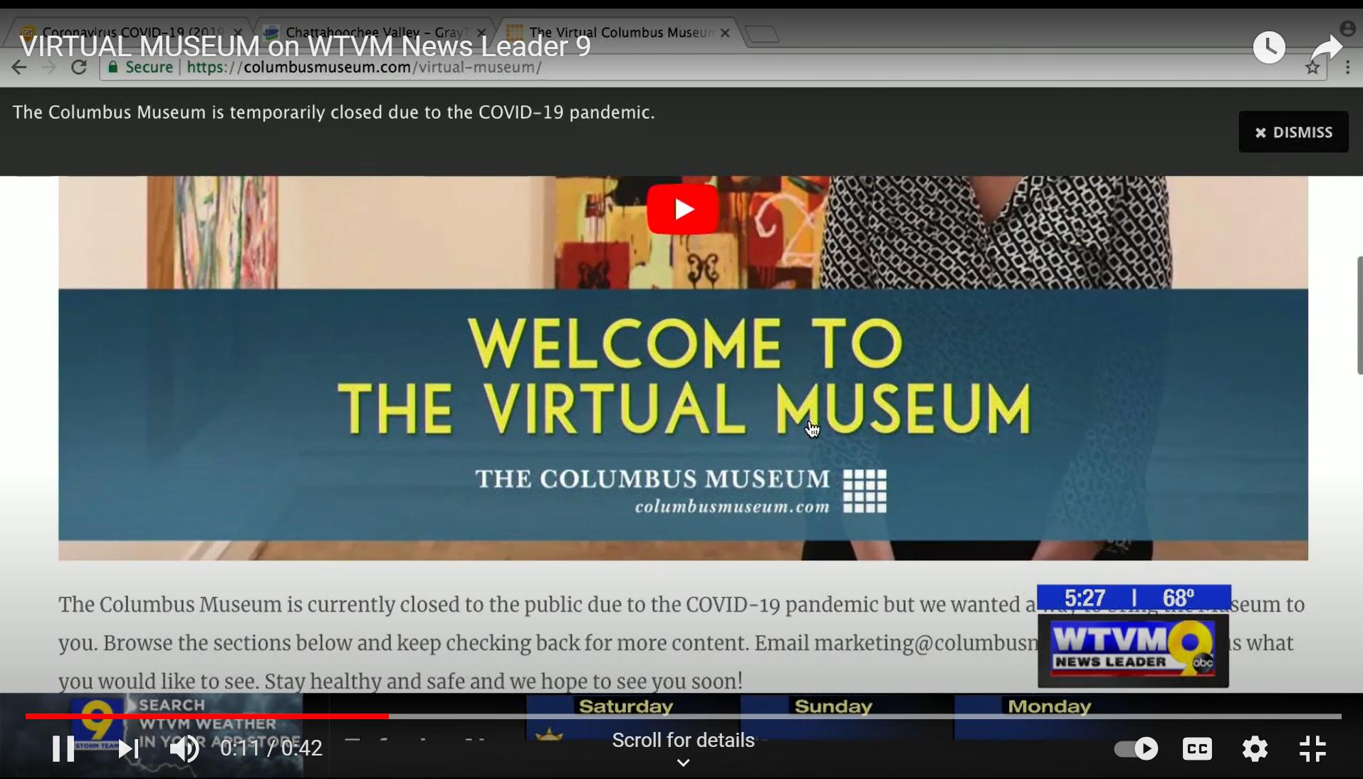 VIRTUAL MUSEUM on WTVM News Leader 9