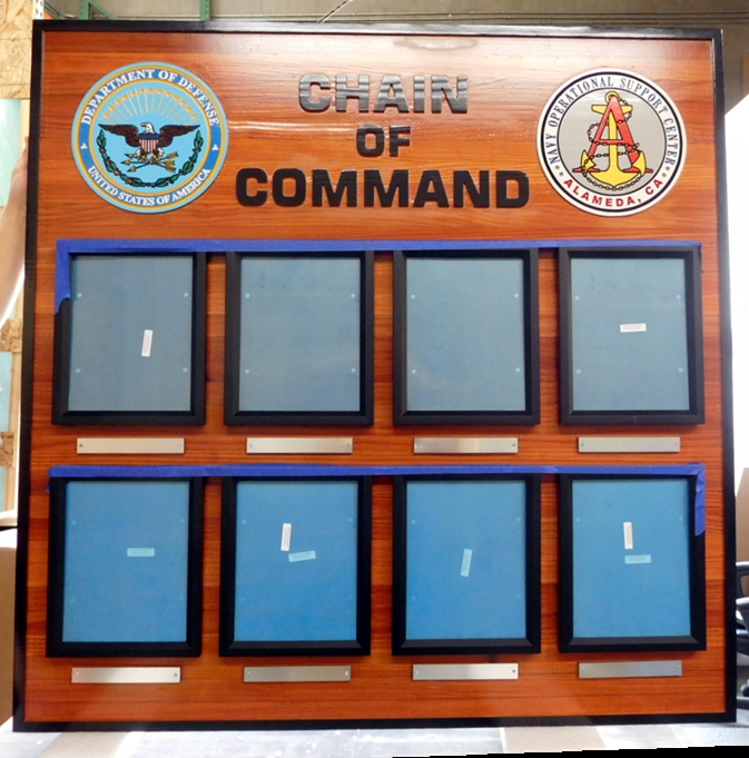 JP-1318 -  Command Board for the Navy Operational Support Center, Redwood with Photos