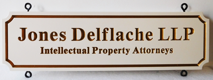 A10413 - Carved, High Density Urethane Sign for Intellectual Property Attorneys