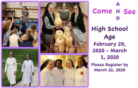 High School Come and See Weekend