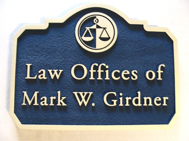 A10193 - Lawyer Sign, Sandblasted Backround