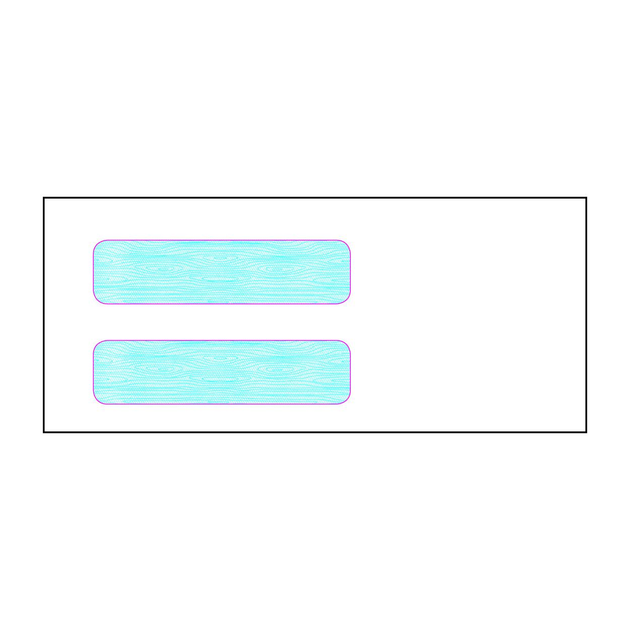 Item J10 - #10 Double Window Envelope - Security Inside Tint