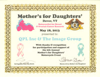 QPL Inc & The Image Group Supports the fight against Breast and Ovarian Cancer
