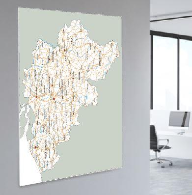 Foam Board Map