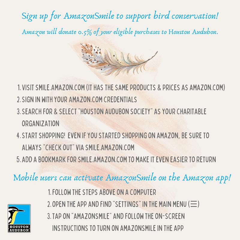 Help Birds with Amazon Smile