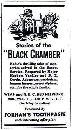 Stories From the Black Chamber, 1935 NBC Radio Show