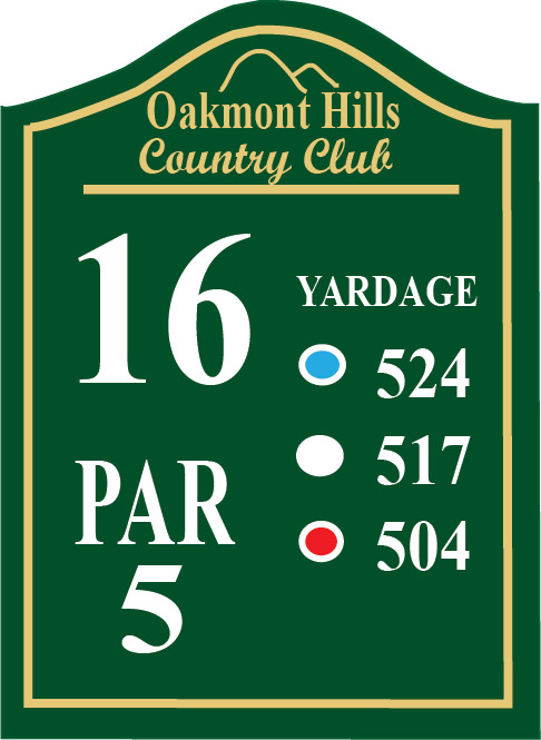 E14381 -Wooden  Golf Tee Sign
