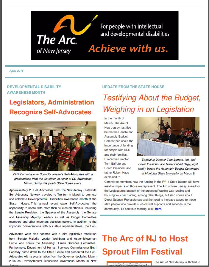 April E- Newsletter