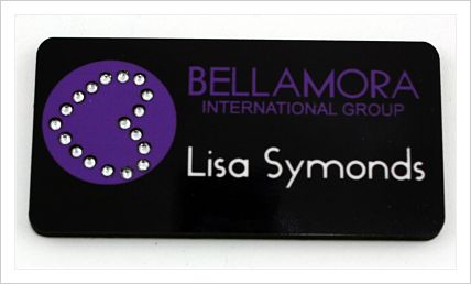 BELLAMORA BLING NAME BADGE