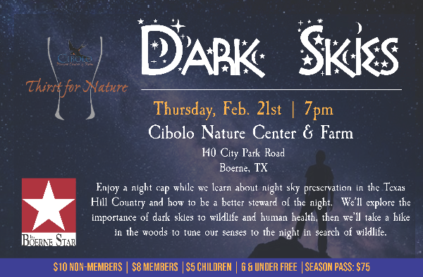 CNC: a Thirst for Nature event - Dark Skies