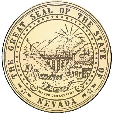 W32334 - Great Seal of Nevada Wall Plaque (Version 2)
