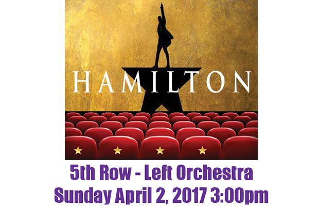 Win a Chance for 4 Tickets to Hamilton!
