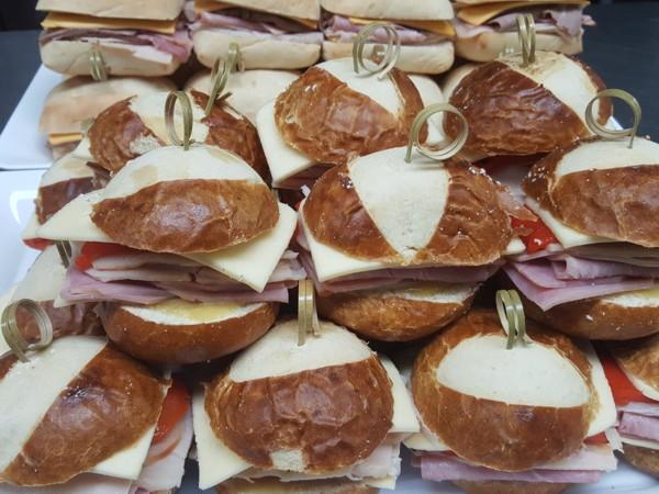 Mini Pretzel Bread Sandwiches